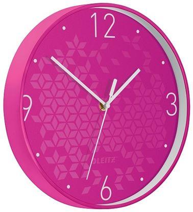 Obrázek Leitz WOW nástěnné hodiny tiché růžová