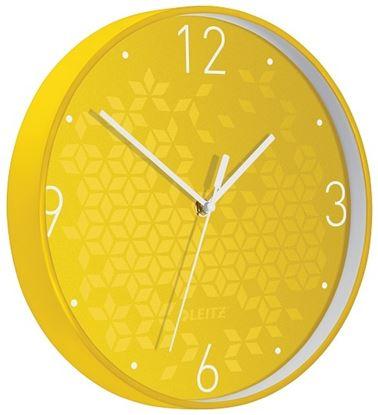 Obrázek Leitz WOW nástěnné hodiny tiché žlutá