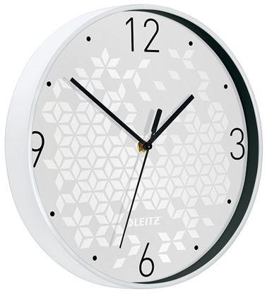 Obrázek Leitz WOW nástěnné hodiny tiché bílá