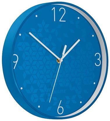 Obrázek Leitz WOW nástěnné hodiny tiché modrá