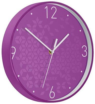 Obrázek Leitz WOW nástěnné hodiny tiché fialová
