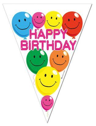 Obrázek Girlanda Happy Birthday - 3 m / 11 praporků
