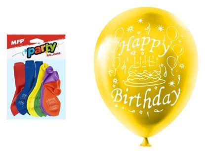 Obrázek Nafukovací balonky  - vel. M / 12 ks / Happy Birthday