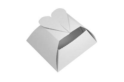 Obrázek Papírový svatební košíček / srdce / 10 x 10 x 5,5 cm