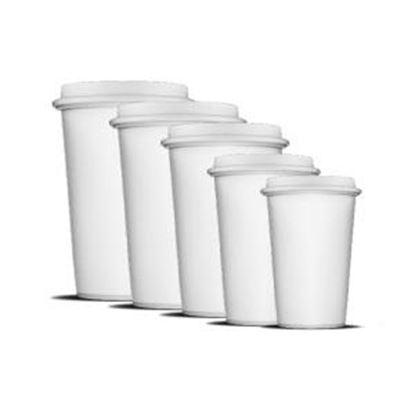 Obrázek Kelímky papírové - 300 ml / 50 ks / bílá