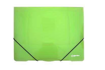 Obrázek Desky s gumou eColection A4 / 3 klopy / zelená