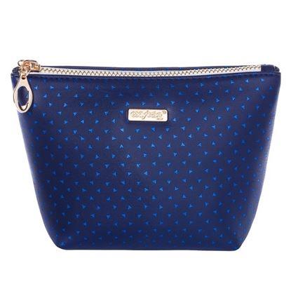 Obrázek Kosmetická taška Blue triangles / hranatá / malá