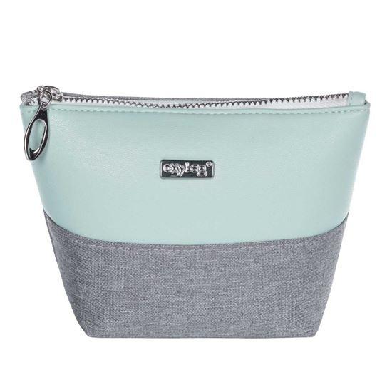 Obrázek z Kosmetická taška Grey mentol / hranatá / malá