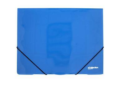 Obrázek Desky s gumou eColection A4 / 3 klopy / modrá