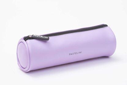Obrázek Pouzdro na tužky PASTELINI / fialová / kulaté