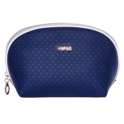 Obrázek Kosmetická taška Blue triangles / kulatá