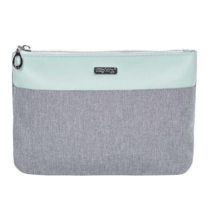 Obrázek Kosmetická taška Grey mentol / plochá