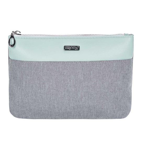 Obrázek z Kosmetická taška Grey mentol / plochá