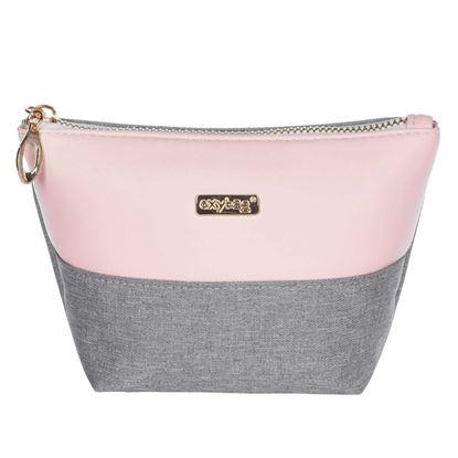 Obrázek Kosmetická taška Grey salmon / hranatá / malá