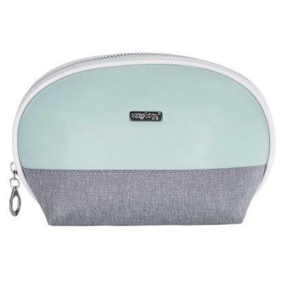 Obrázek Kosmetická taška Grey mentol  / kulatá