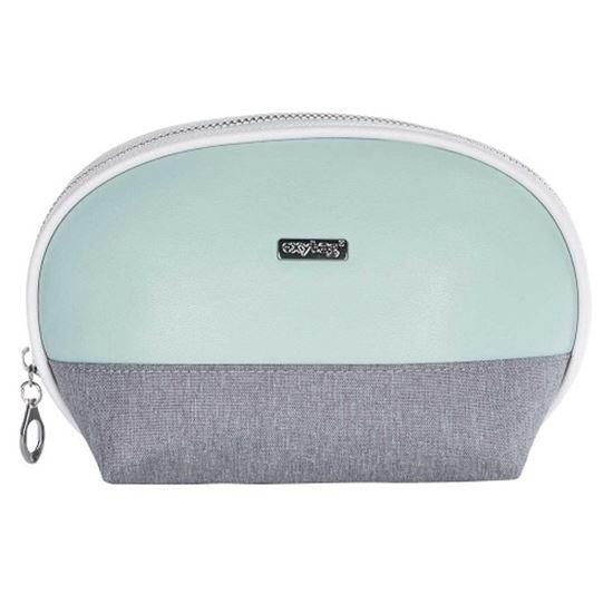 Obrázek z Kosmetická taška Grey mentol  / kulatá