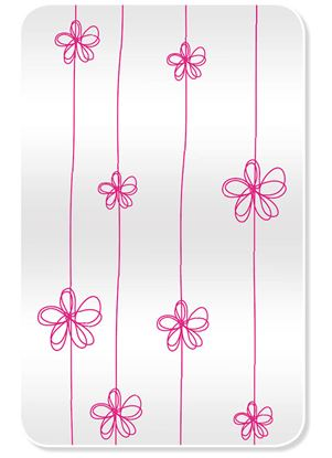 Obrázek Dárkový sáček - transparentní / 16 x 25 cm / kvítka