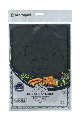 Obrázek Omalovánky 9997/4 Antistress black / 4 ks / motivy Animals
