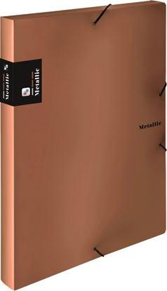 Obrázek Box na spisy A4 s gumou METALLIC - měděná