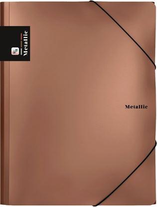 Obrázek Spisové desky A4 s gumou Metalic- meděná