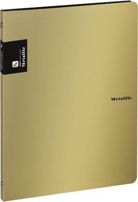 Obrázek Desky A4 kroužkové METALLIC - 4-kroužek / zlatá