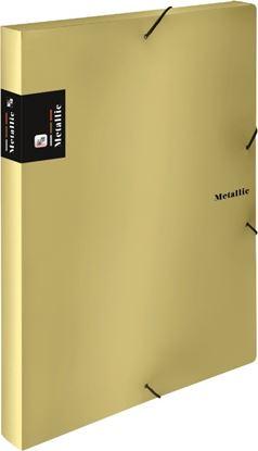 Obrázek Box na spisy A4 s gumou METALLIC - zlatá