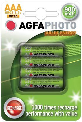 Obrázek Baterie NiMH AAA 900mAh - nabíjecí / 4 ks