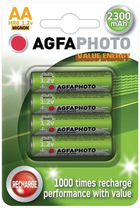 Obrázek Nabíjecí baterie AgfaPhoto - NiMH AA 2300mAh / 4 ks