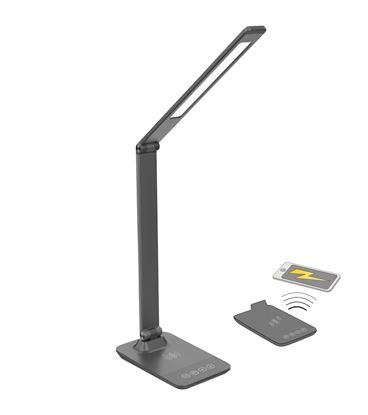 Obrázek Lampa LED s bezdrátovým nabíjením - šedá
