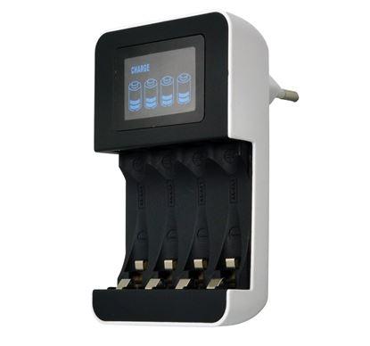 Obrázek Nabíječka baterií s LCD dispelejm - 230 V / 450 mA / AA/AAA