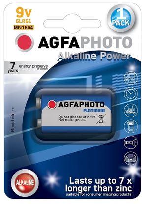 Obrázek Baterie AgfaPhoto Power alkalické - baterie / 9 V / 1 ks