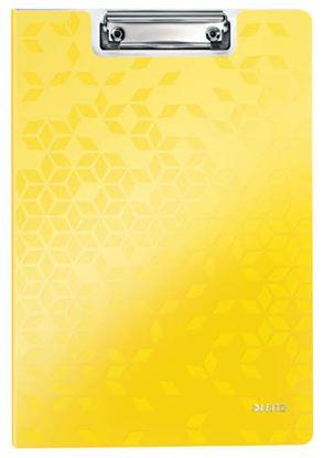 Obrázek Dvojdeska A4 s klipem WOW - žlutá