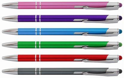 Obrázek Kuličkové pero Bello touch se stylusem - barevný mix