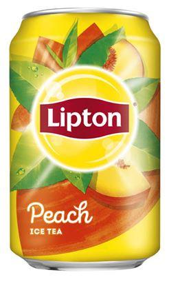 Obrázek Lipton ledový čaj - Ice Tea Peach 0,33 l plech