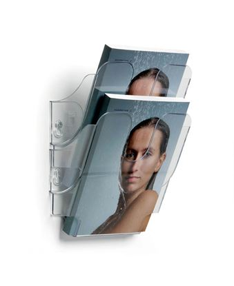 Obrázek Držáky na prospekty Durable Flexiplus - 2 / A5 čirý / na výšku