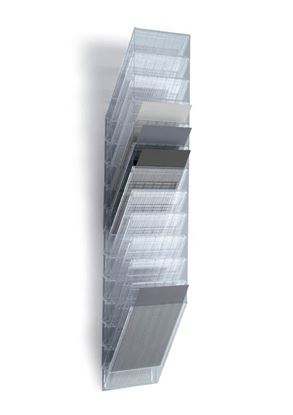 Obrázek Držáky na prospekty Durable Flexiboxx - 12 / A4 čirý / na výšku