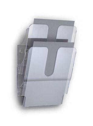 Obrázek Držáky na prospekty Flexiplus - 2 / A4 čirý / na výšku