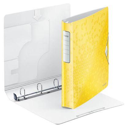 Obrázek Mobilní pořadač A4 kroužkový WOW - 4 - kroužek / žlutá