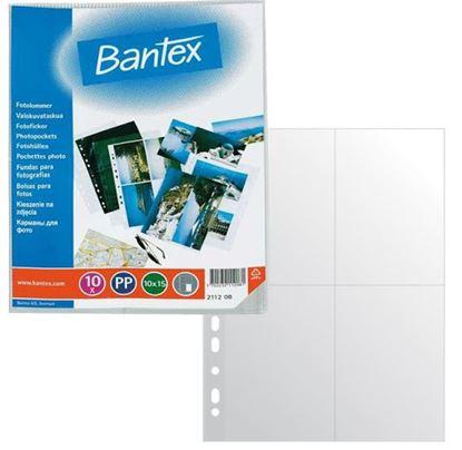 Obrázek Závěsný obal Bantex - A4 silný / kapsy na foto 13 x 18 / 10 ks