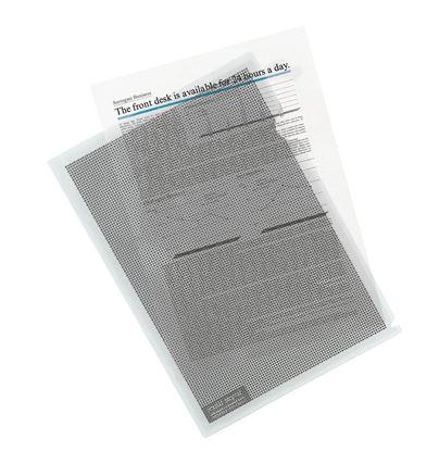 Obrázek Zakládací obal A4 MASKOVACÍ - tvar L / transparentní / 5 ks