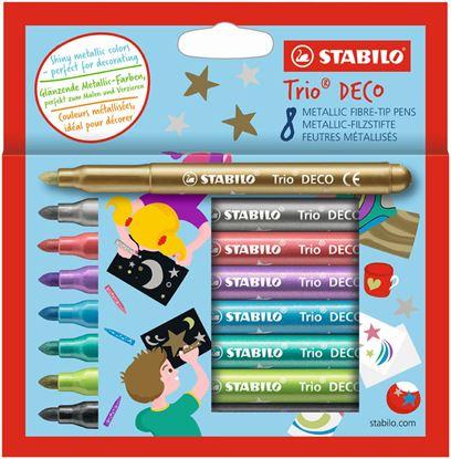 Obrázek Metalické popisovače STABILO 377/8 Trio® Deco - 8 ks