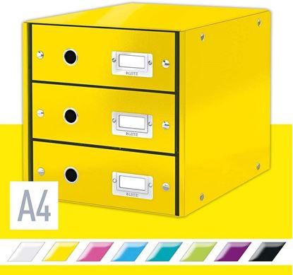 Obrázek Zásuvkový box Leitz Click & Store - 3 zásuvky / žlutá