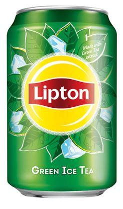 Obrázek Lipton ledový čaj Ice Tea Green 0,33 l plech