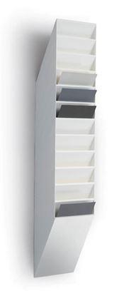 Obrázek Držáky na prospekty Durable Flexiboxx - 12 / A4 bílý / na výšku