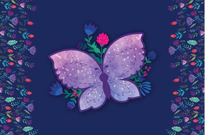 Obrázek Pracovní podložka s obrázkem - motýli
