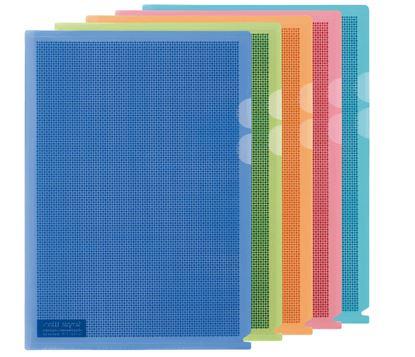 Obrázek Zakládací obal A4 MASKOVACÍ - tvar L / mix barev / 5 ks