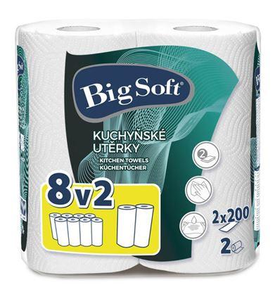 Obrázek Utěrky papírové v roli Big Soft maxi 8v2 - 2 ks