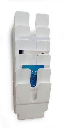 Obrázek Držáky na prospekty Flexiplus - 6 / A4 bílý / na výšku