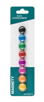 Obrázek Magnety CONCORDE - průměr 20 mm / barevný mix / 8 ks