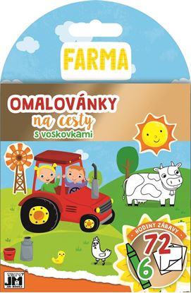Obrázek Omalovánky + voskovky na cesty - Farma